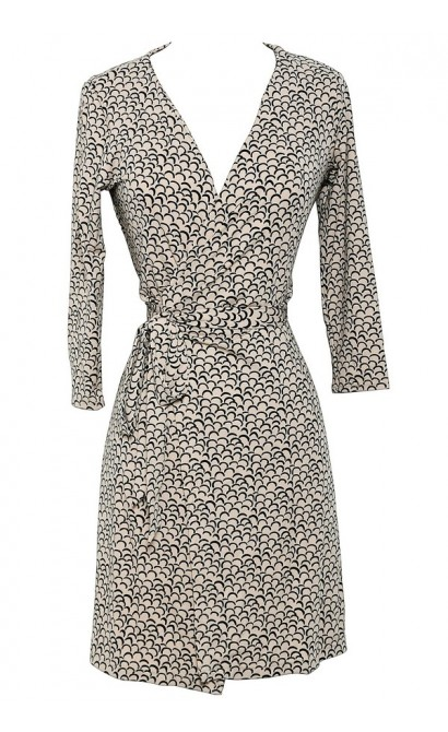 Throw A Curve Printed Designer Wrap Dress