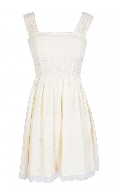 time for tea ivory lace dress