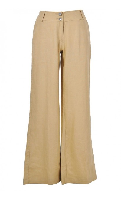 Perfect Cut Beige Linen Pant
