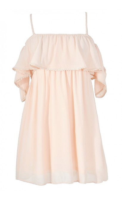 Sweet On You Off Shoulder Ruffle Tunic in Cream