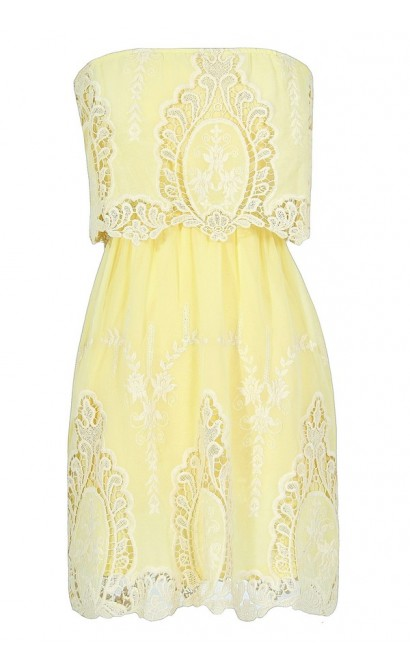 Cute Bohemian Dress, Yellow Embroidered Dress, Cute Juniors Dress, Cute Summer Dress