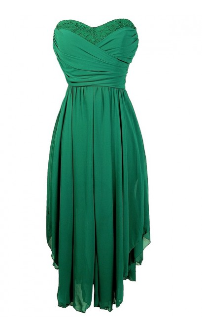 c31290b3e Hunter Green Midi Dress