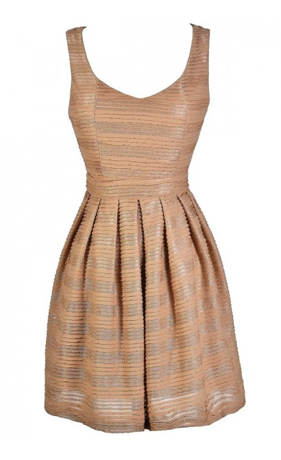 Mocha Party Dress, Mocha A-Line Dress, Cute Cocktail Dress, Cute Party Dress, Taupe Party Dress, Taupe A-Line Dress