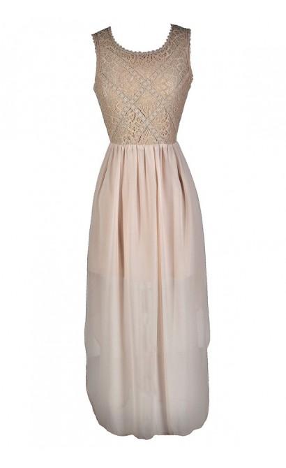 Beige Lace Dress, Beige Sequin Lace Dress, Beige Maxi Dress, Beige High Low Dress, Beige Cocktail Dress, Beige Rehearsal Dinner Dress, Beige Bridal Shower Dress