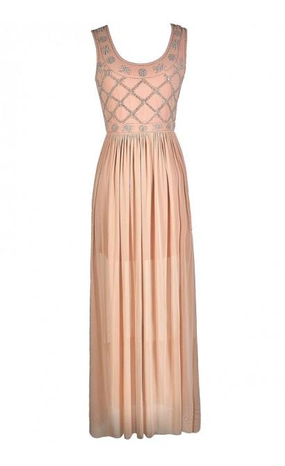 Pale Pink Maxi Dress, Pale Pink Prom Dress, Pink Beaded Maxi Dress, Pink Beaded Formal Dress, Cute Pink Dress, Pink Prom Dress, Great Gatsby Dress, 1920s Maxi Dress, Roaring 20s Dress, Roaring 20s Formal Dress