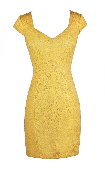 Bright Yellow Dress, Cute Yellow Dress, Yellow Lace Dress, Yellow Lace Pencil Dress, Yellow Lace Cocktail Dress, Yellow Lace Party Dress, Yellow Pencil Dress, Bright Yellow Dress