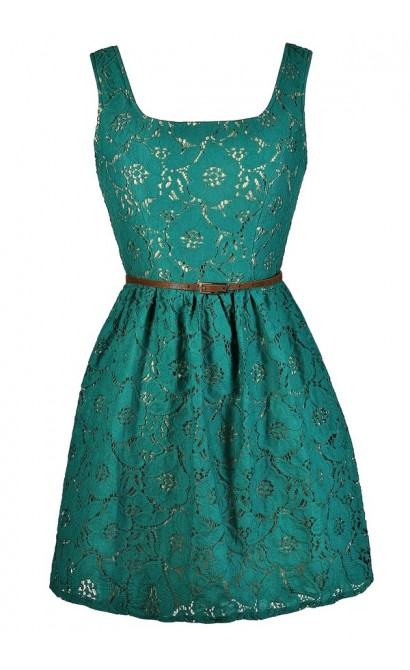 Cute Jade Dress, Cute Teal Dress, Jade Lace Dress, Teal Lace Dress, Jade Lace A-Line Dress, Teal Lace A-Line Dress, Belted Teal Dress, Belted Jade Dress, Teal Lace A-Line Dress, Jade Lace A-Line Dress, Teal Lace Party Dress, Teal Lace Summer Dress, Teal S