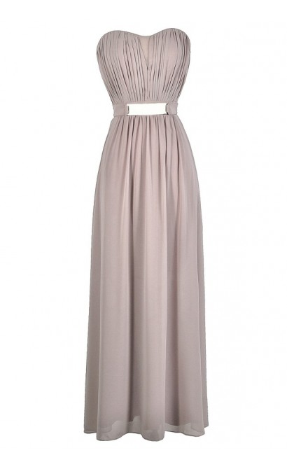 Light Purple Mink Bridesmaid Maxi Dress