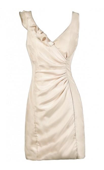240ba22afba0 Beige Pencil Dress
