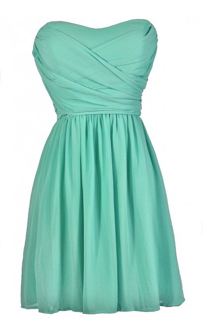 Cute Mint Dress, Mint Strapless Dress, Mint Bridesmaid Dress, Mint Party Dress, Mint Cocktail Dress, Mint Summer Dress