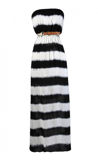 Tie Dye Maxi Dress Cute Tie Dye Dress Tie Die Summer Dress Black