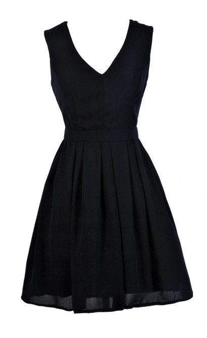 Cute Navy Dress, Dark Navy Dress, Navy A-Line Dress, Navy Party Dress, Navy Cocktail Dress, Navy Bridesmaid Dress