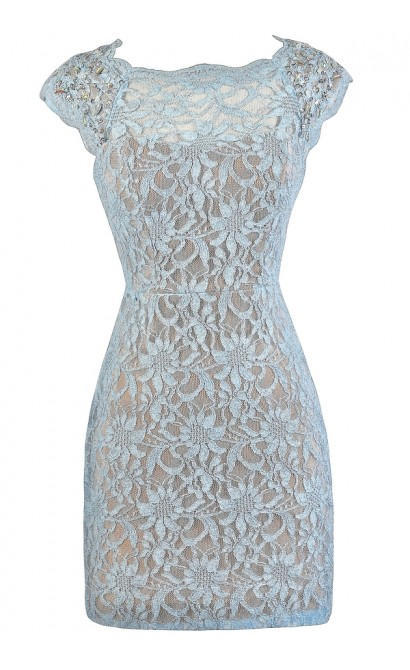 Pale Blue Lace Dress, Sky Blue Lace Dress, Baby Blue Lace Dress, Pale Blue Glitter Lace Dress, Sky Blue Glitter Lace Dress, Baby Blue Embellished Shoulder Lace Dress, Baby Blue Cocktail Dress, Sky Blue Party Dress