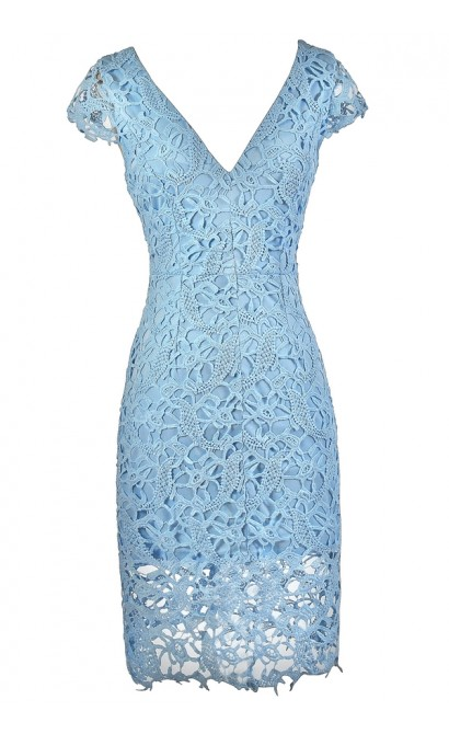 Pale Blue Lace Dress, Sky Blue Lace Dress, Baby Blue Dress Dress, Lace Pencil Dress, Sky Blue Lace Pencil Dress, Baby Blue Lace Pencil Dress