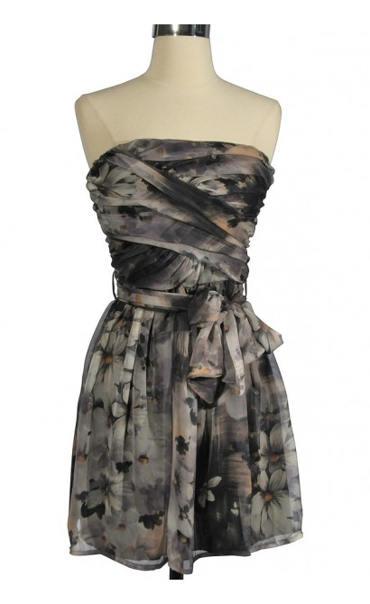 Garden Rainstorm Strapless Dress