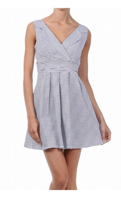 Yacht Club Stripe A-Line Dress