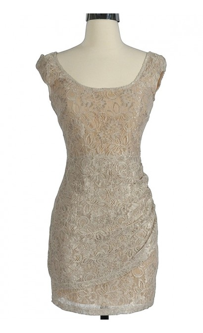 Morning Mist Lace Bodycon Dress