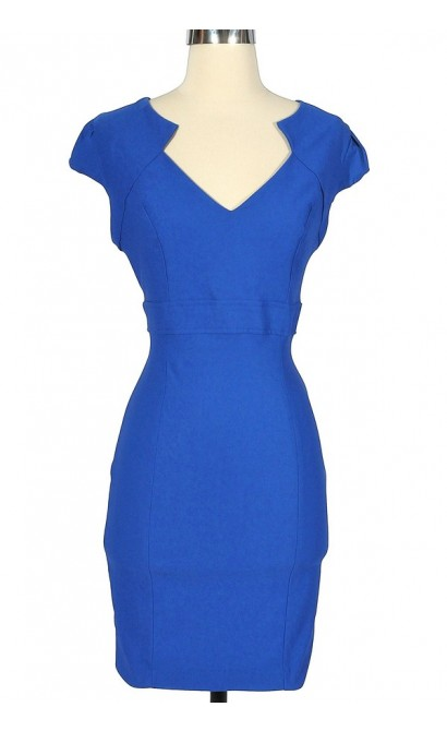 Royal Engagement Blue Pencil Dress