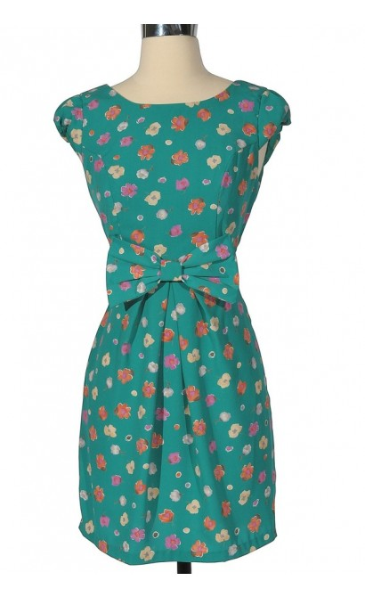 Blossom and Bow Floral Dress