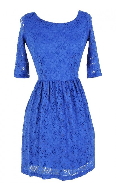 True Blue Lace Dress