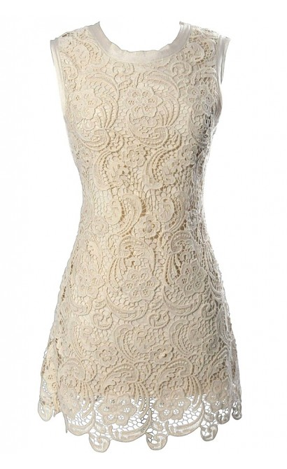 Victorian Secret Crochet Lace Dress Lily Boutique