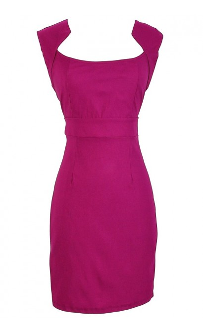 Magenta Bodycon Pencil Dress