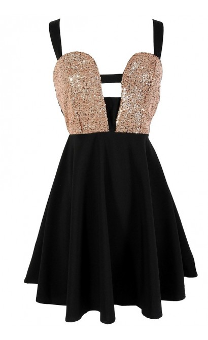 Cleopatra Sequin Embellished Dress