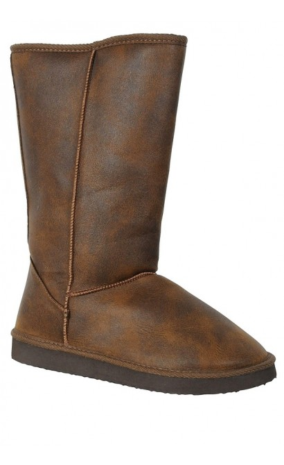 Cognac Shearling Lined Boot