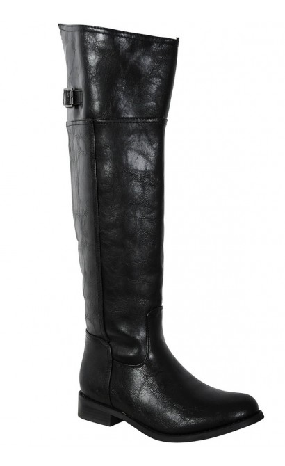 Lexi Riding Boot in Black