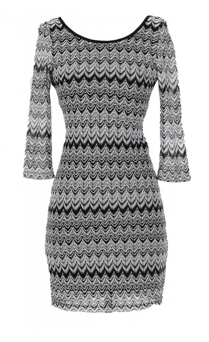 Double Vision Chevron Print Dress