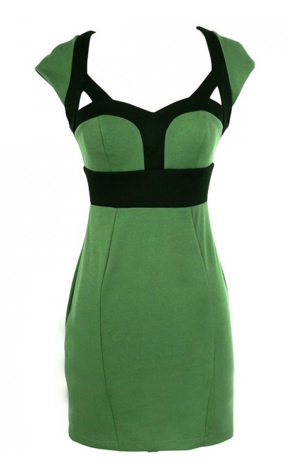 Beyonce Inspired Bodycon Pencil Dress in Green