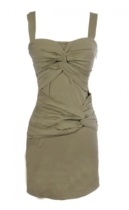 Twisted Over You Dress in Pale Green