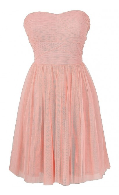 Pink Fairy Tulle Strapless Dress by Ark and Co
