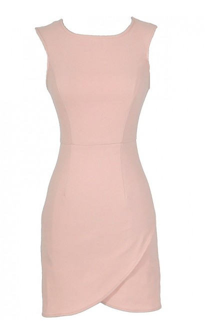 Thats A Wrap Bodycon Pencil Dress in Pink