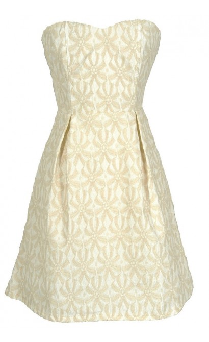 Sand Dollar Summer Dress in Ivory/Beige
