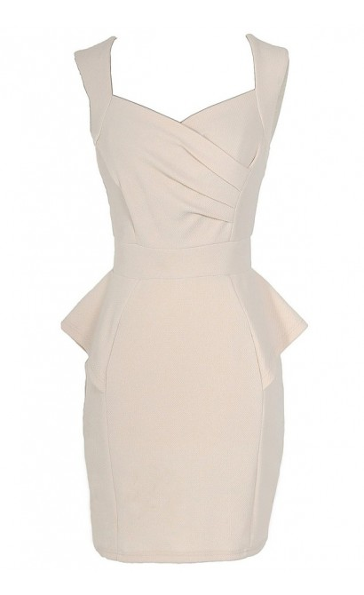 Network The Room Matelasse Peplum Dress in Ivory