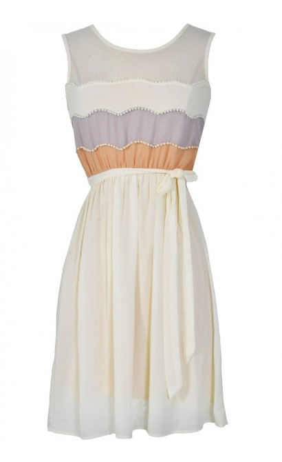 Precious Pearls Dress in Cream