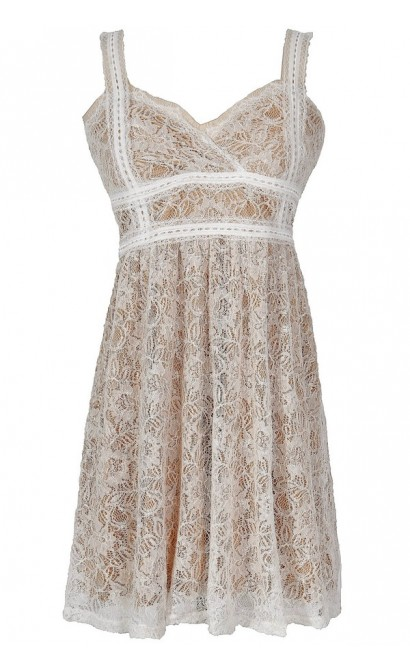 Tabitha Lace Babydoll Dress in Ivory