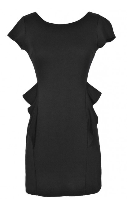 Peplum Perfection Black Peplum Dress