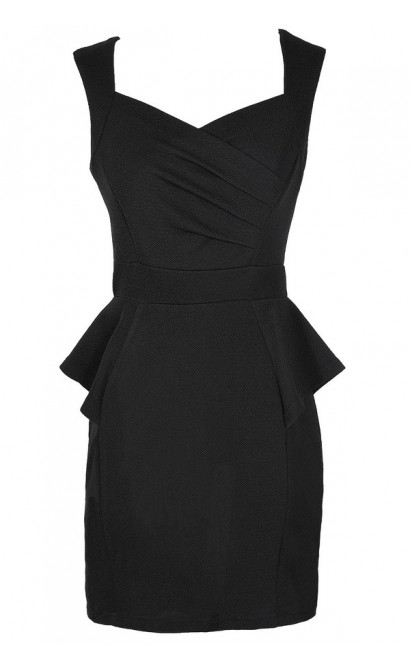 Network The Room Matelasse Peplum Dress in Black