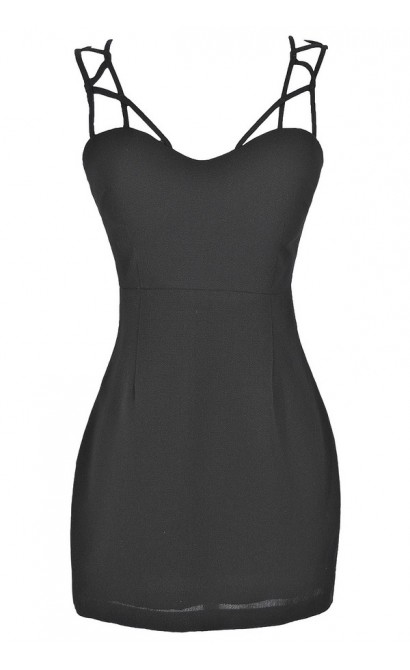 Climbing The Ladder Dress in Black