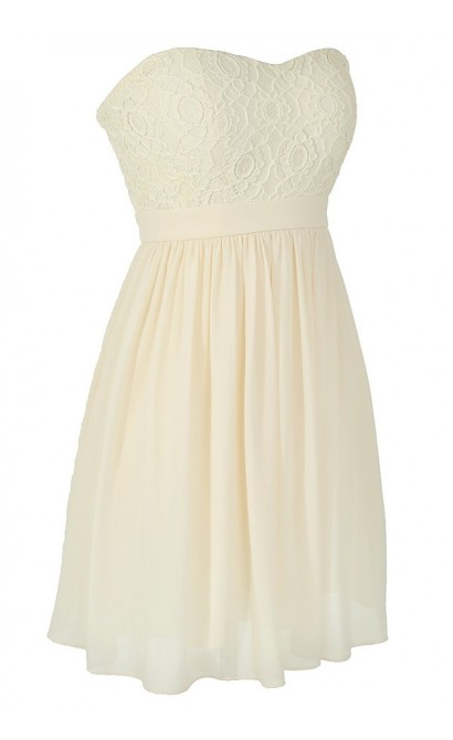 Making Memories Chiffon and Lace Designer Dress in Ivory