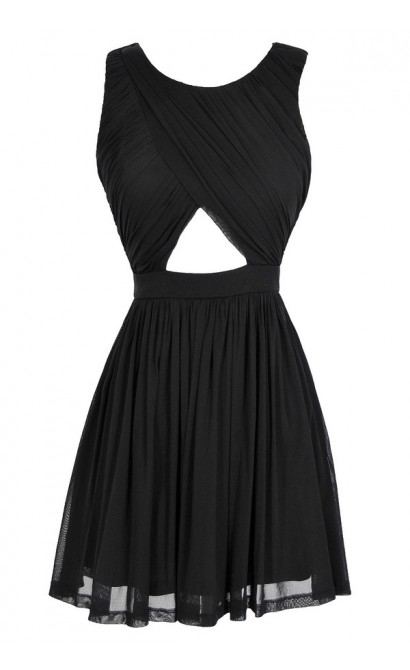 Cut It Out Black Dress
