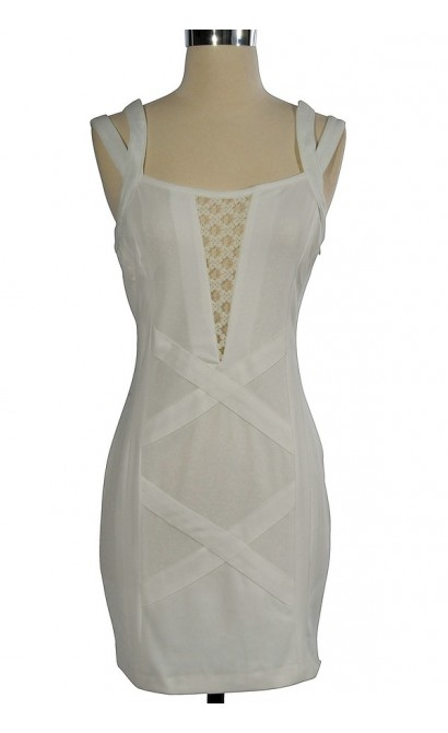 The White Choice Fitted Dress