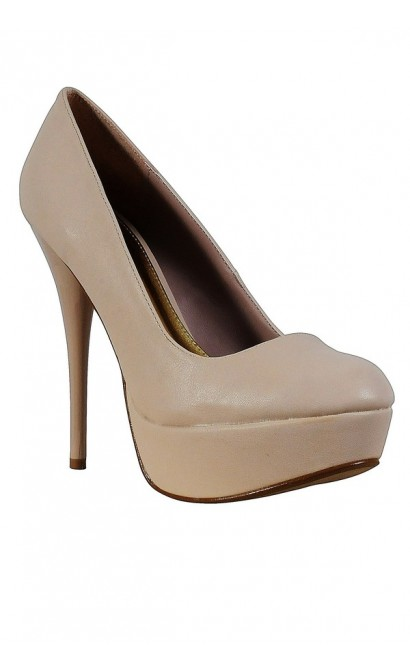 Liza Perfect Platform Pump in Nude