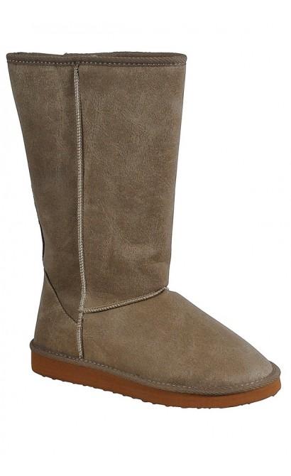Beige Shearling Boot