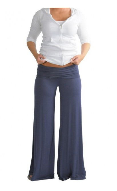 Superwide Comfy Palazzo Pants in Indigo