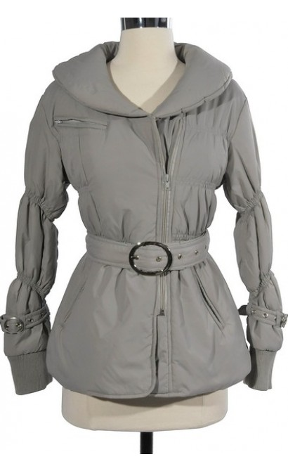 Puffed Up Light Grey Jacket