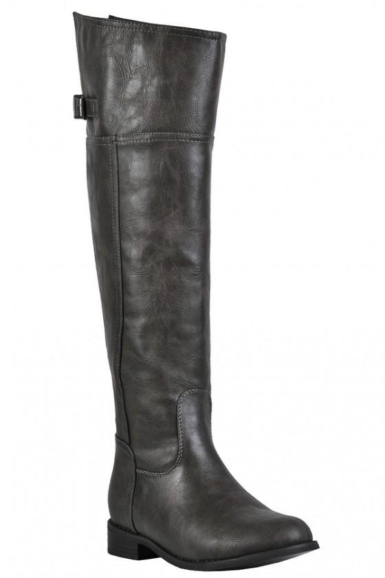 Grey Riding Boot, Cute Fall Boots, Cute