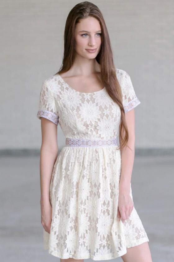 Turkish Delight A Line Dress In Cream
